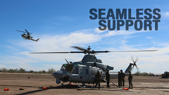 Marines with HMLA-267 support Scorpion Fire