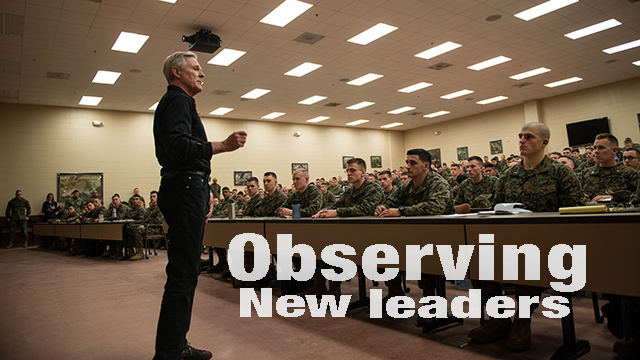 SECNAV visits Marine officers at Quantico